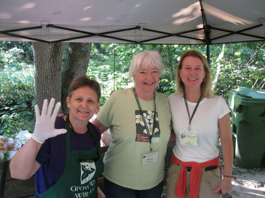Volunteers at plant sale